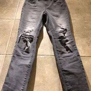 Treasure & Bond Gray High Waist Ankle Skinny Jeans
